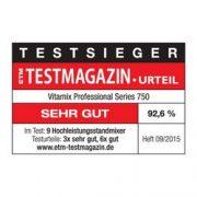 ויטמיקס בחירת הצרכנים לשנת 2015 מטעם מגזין ETM-Testmagazin-Testsieger